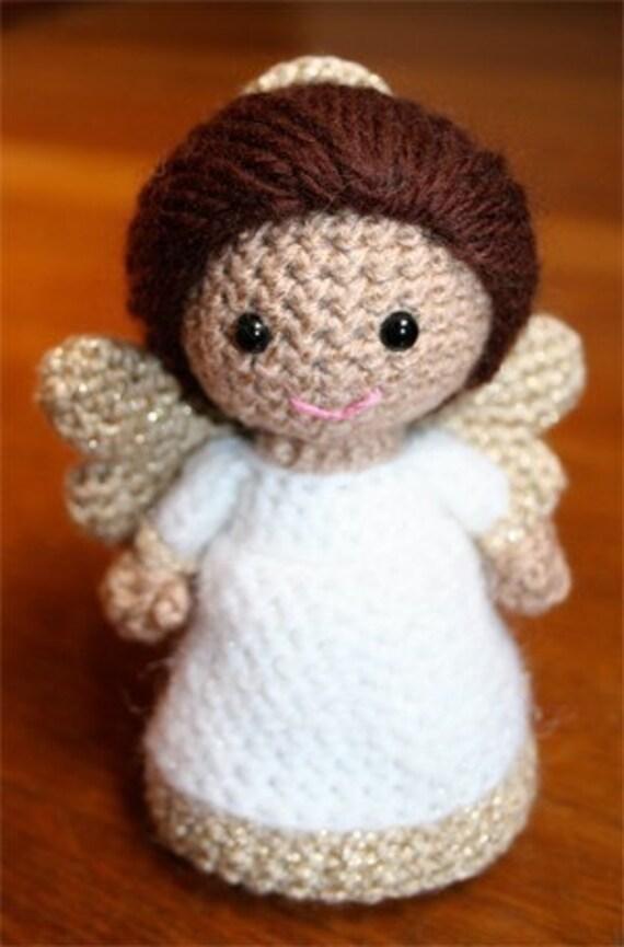 Crochet Pattern- Paz the little angel amigurumi doll