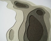 Topography in Slate - Set of 4 handcut cards