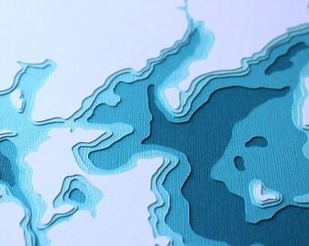 Leech Lake - original 8 x 10 papercut art