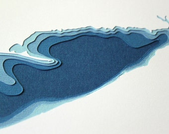 Lake Erie - original 8 x 10 papercut art