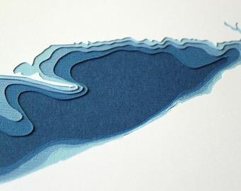 Lake Erie - original 8 x 10 papercut art