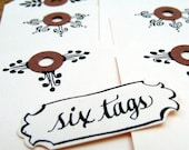 Signature Hand Flourished Gift Tags, set of 6