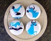 Repurposed Magnet Gift Set, Blue Ribbon Farm Animals