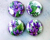 Iris Spring Magnets - Magnet Set Gift, four repurposed magnets, plant a garden on your fridge, GIVE HANDMADE by KisforCalligraphy