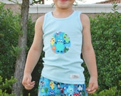 Monster Mash Boys Shorts and Tank  Top Set 12M 18M 2T 3T 4T 5T 6