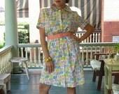 RARE Vintage 1950s Atomic smock dress