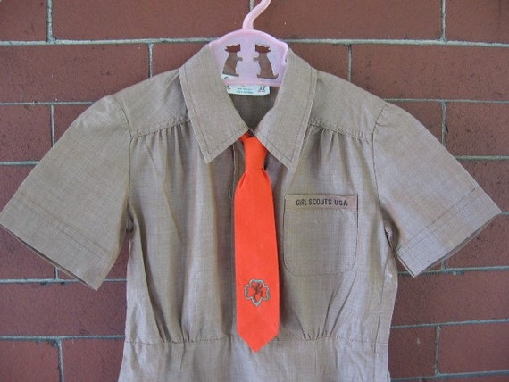 Vintage girl's scout dress and necktie