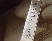 Bite Me Sterling Silver Pendant