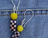 Chess and Lemon Earrings