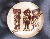 3 Jazz Cats Deluxe Glass Bubble Magnet
