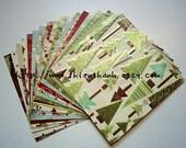 Mme 2011 Christmas glitter cardstock - O Christmas Tree collection - set of 18 - single side - 6x6