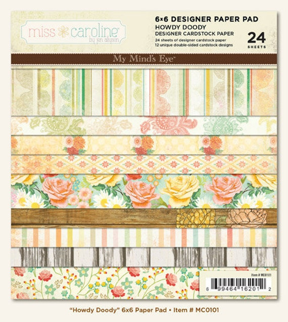 MME 2012 papers pack - Howdy Doody collection - set of 24 - double side cardstock - 6x6