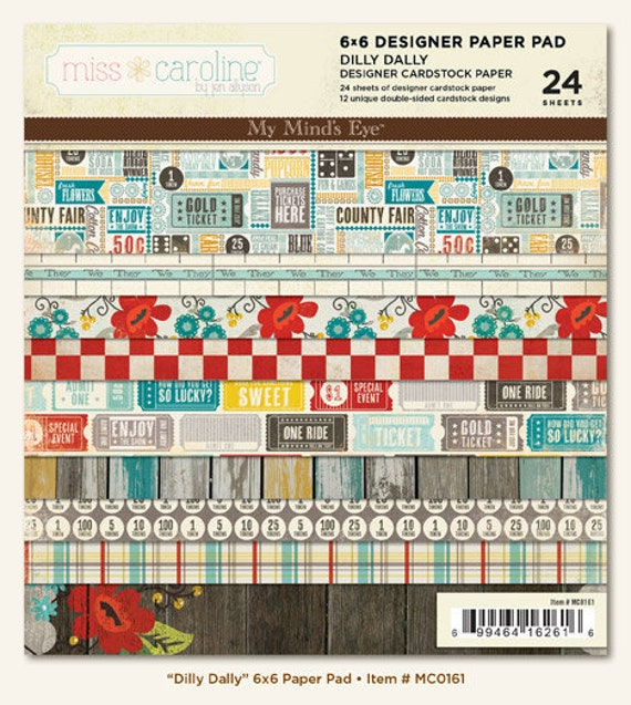 MME 2012 papers pack - Dilly Dally collection - set of 24 - double side cardstock - 6x6