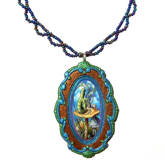 Alice in Wonderland Pendant and Necklace