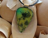 Free Necklace Butterfly Dream Dichroic Glass Pendant