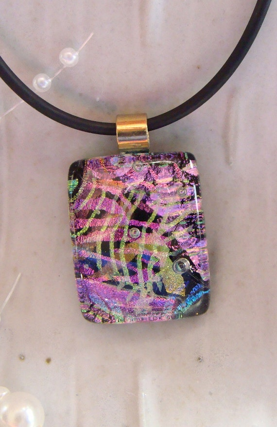 Free Necklace Dichroic Glass Pendant