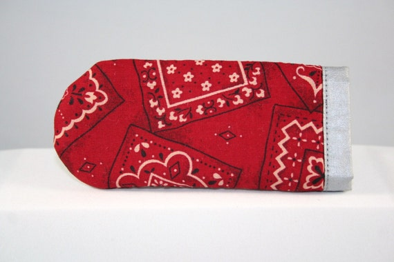 Cast Iron Skillet Handle Cover Red Bandana