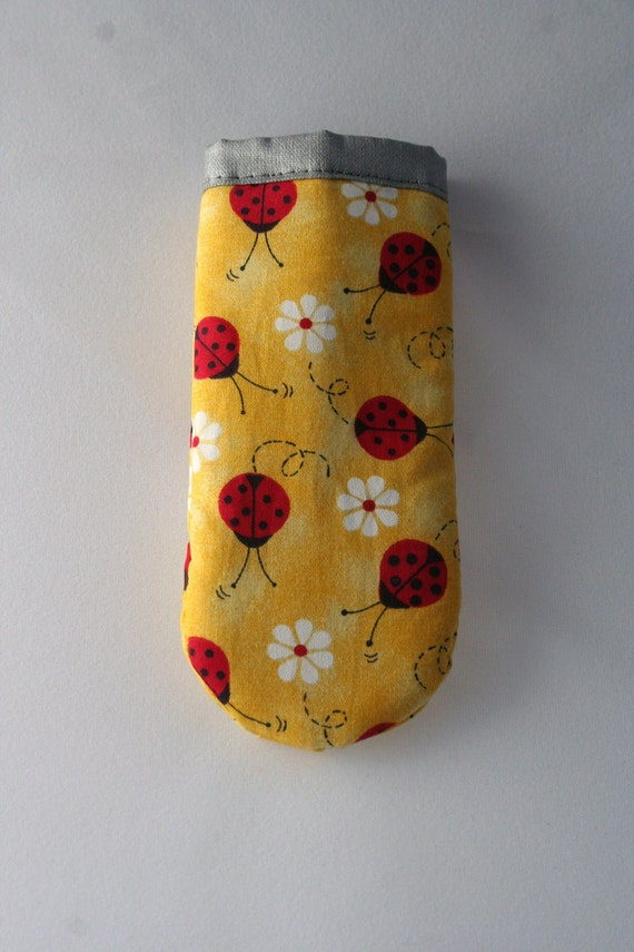Yellow Lady bugs and Daisies Cast Iron Skillet Handle Cover