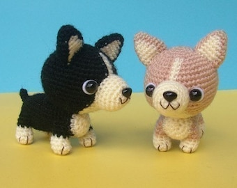 Welsh Corgi Puppy - PDF Crochet Pattern