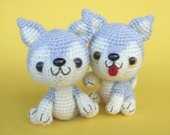 Siberian Husky Puppy - PDF Crochet Pattern