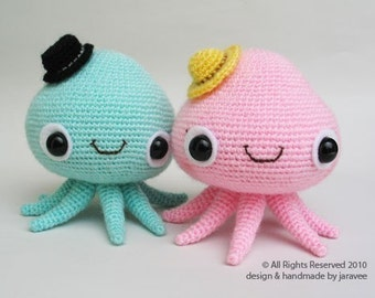 Mr. and Mrs. Jelly Fish - PDF Crochet Pattern