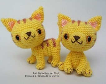 Yellow Kittens - PDF Crochet Pattern
