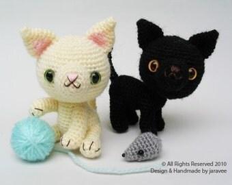 Black and White Kittens - PDF Crochet Pattern