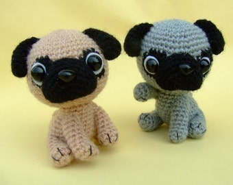 Pug Puppy - PDF Crochet Pattern