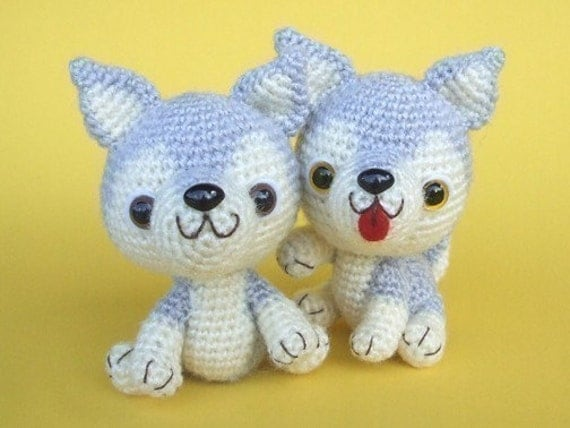 Amigurumi Legs Tutorial : Items similar to Siberian Husky Puppy - PDF Crochet ...
