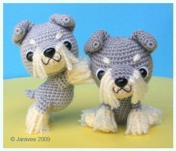 Schnauzer Puppy - PDF Crochet Pattern