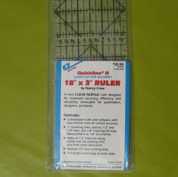 Quickline II By Nancy Crow Quilting Ruler By SupplySmith