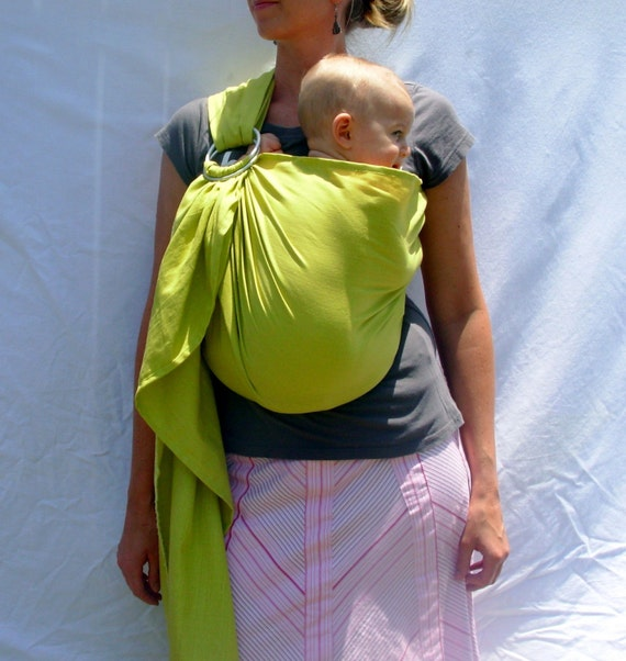 New Spring Leaf durable-blend Baby Sling - Sophisticated and Funky