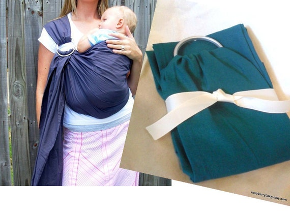 READY TO SHIP Teal Lake Linen-blend Baby Sling - Ring Sling - More Colors Available