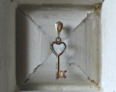 La Cle - The Key - Mixed Media Vintage Wood Assemblage - Celebratory - Romantic Love Keepsake