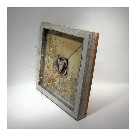 You Light Up My Heart  -  Mixed Media Assemblage/ Wood Collage - Celebratory - Romantic Love Keepsake - Wall Art