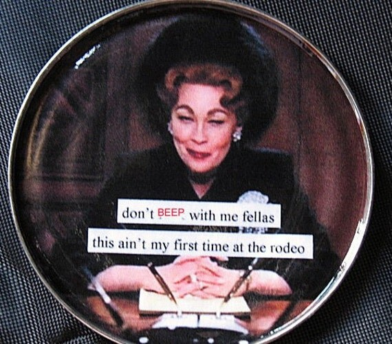 Mommy Dearest Don't F with me magnet. Image on Recycled Tin Can Lid.