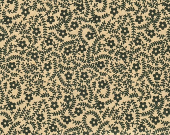 SMALL GREEN FLOWER Quilting Fabric 1 Yard