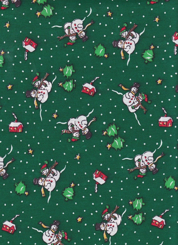 Cute Christmas Snowmen Fabric Craft Fabric