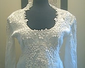Vintage 1950s Retro Wedding Dress Ivory Size 0-2 Extra Small Euro Size 32-34