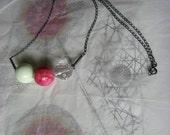 KUKULE ball necklace oxidized sterling silver dyed howlit crystal quartz agate gemstone minimalist free shipping