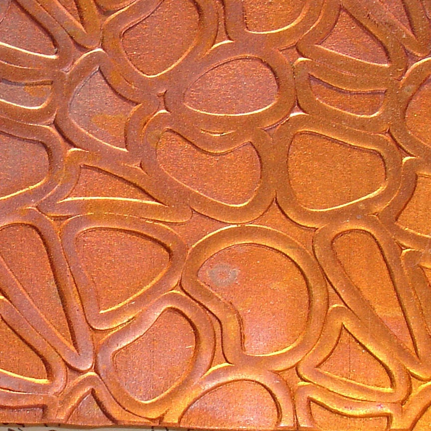 Textured Copper Sheet Metal Large Pebbles Patina Copper