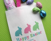 Easter Candy Bags,  Easter Bunny, Favor bags, Candy Buffet, Birthday party, Sweets, Treats, Set of 24