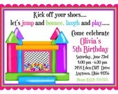 Bounce House invitations, Ball Pit Invitations Personalized Invitations, Girl, Birthday Party, Favor Stickers, address labels