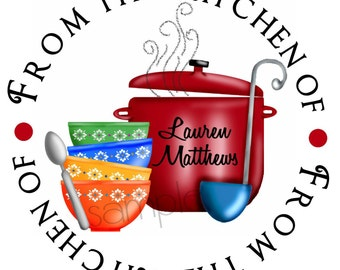 Soup Stickers, Soup Labels, Kitchen stickers, cooking, labels, seals, Favor,  Set of 12 stickers