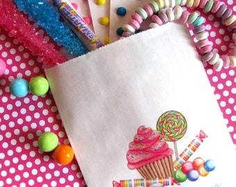 Personalized Candy Bags, Wonderland Sweet Shop, Candy Favor bags, Candy Buffet favor bags,Birthday party, Sweets,Treats bags
