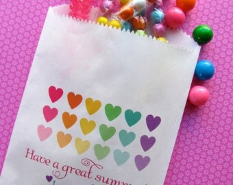 Personalized Candy Bags, Hearts, Favor bags, Candy Buffet favor bags, Birthday party, Sweets, Treats,  Choose any Design in my Shop