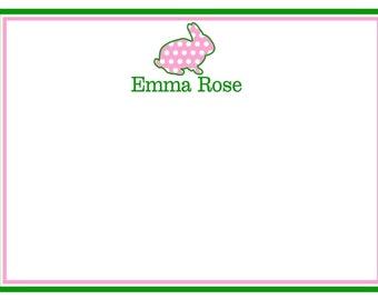Personalized Stationery,  Animal Notecards, Polka Dots, animal stationary,  kids stationary, Custom Color, Set of 12