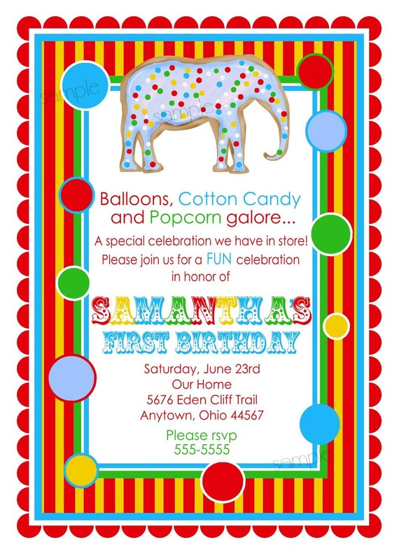 Circus Themed Birthday Party Invitations is amazing invitations layout