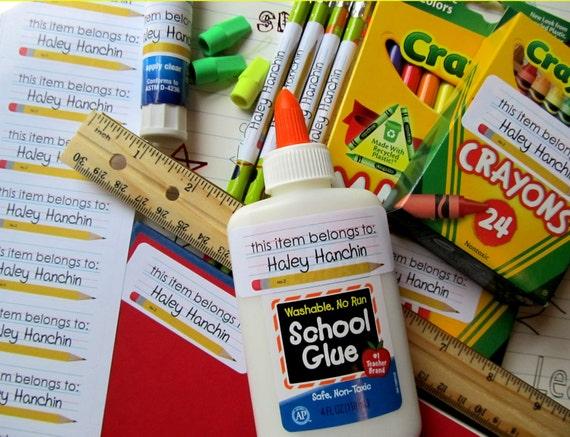 Printable Back to School Stickers, DIY, Labels, Pencil, School paper,  Teacher, children, school, suppies