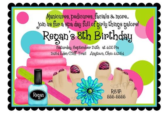 Spa Birthday Party Invitations Spa Party Spa – Girls Spa Birthday Party Invitations